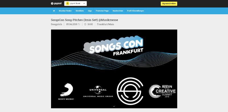 JEFFREY SÖDERBLOM und die SongsCon 2019