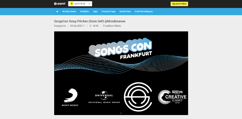 SongsCon | gigmit