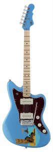 "40 Jahre G&L: Frontansicht Doheny Tiki ""HULA"", Miami Blue"