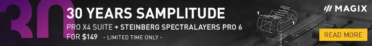 Banner 30 years MAGIX Samplitude Music Software