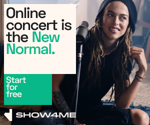 "Show4me Banner ""Online Concert Is the New Normal"""