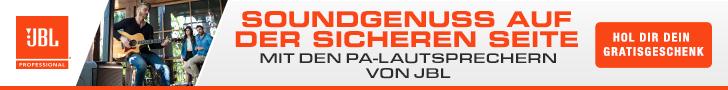 JBL PA-Lautsprechern Gratis banner